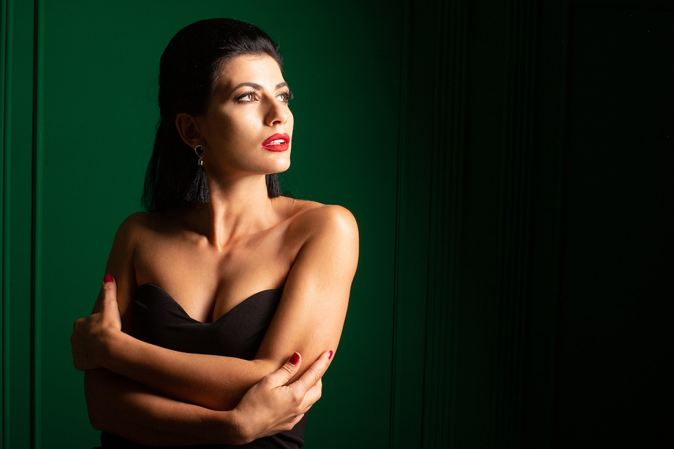 žena, modelka