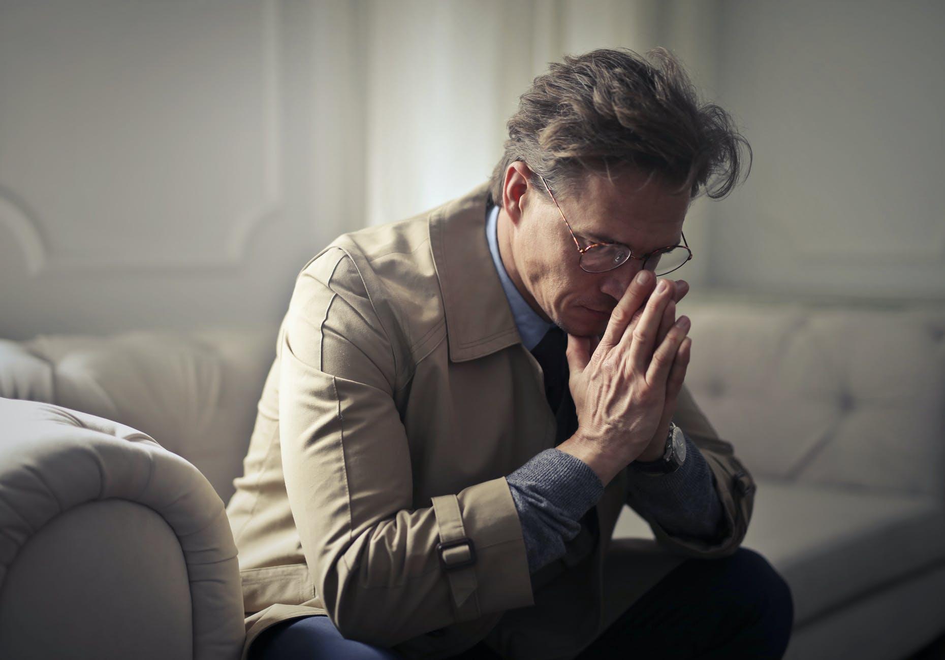 deprimovaný muž