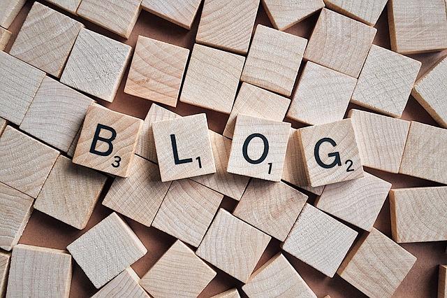 nápis blog